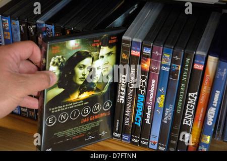 DVD, DVDs, films, film, movies - Stock Photo