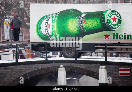 heineken truck in Holland - Stock Photo