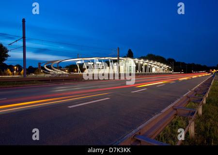 Germany, North Rhine Westphalia, Dortmund, View of railway station - Stock Photo