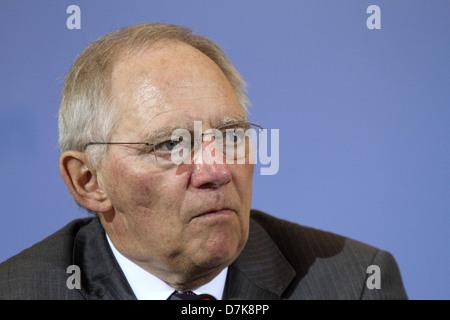 Berlin, Germany, German Finance Minister Wolfgang Schaeuble, CDU - Stock Photo
