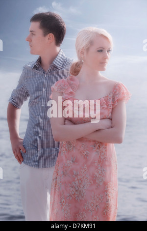 a couple having a conflict - Stock Photo