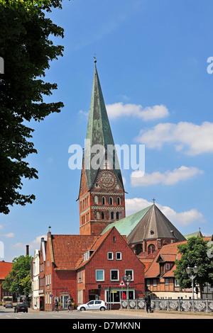 St. Johannis-Church in Lüneburg, Lueneburg, Lower Saxony, Germany - Stock Photo
