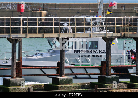 Fisheries Patrol Vessel Entering Port - Stock Photo