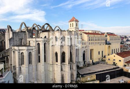 Lisbon, Portugal. The Carmo Convent. - Stock Photo