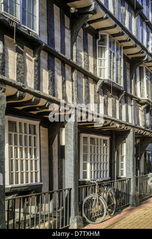 The town centre of the historic market town of Evesham in Worcestershire, England, United Kingdom - Stock Photo