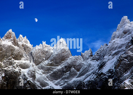 The Aiguille du Midi after three days of snowfall, Mont Blanc, French  Alps, France - Stock Photo