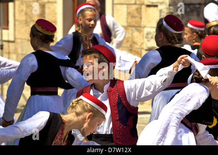 Konavle Folk Dance, Cilipi, Croatia - Stock Photo