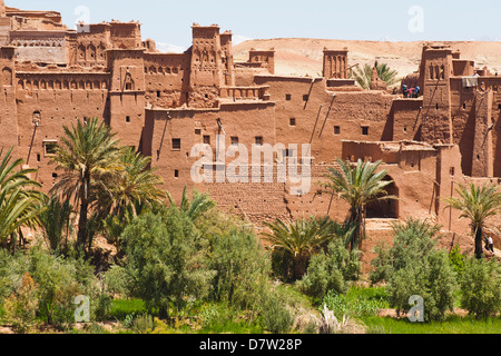Kasbah Ait Ben Haddou, UNESCO World Heritage Site, near Ouarzazate, Morocco, North Africa - Stock Photo