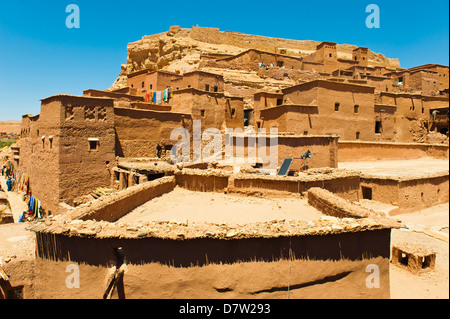 Inside Kasbah Ait Ben Haddou, UNESCO World Heritage Site, near Ouarzazate, Morocco, North Africa - Stock Photo