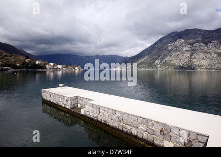 SCENIC VIEW OVER KOTOR BAY KOTOR MONTENEGRO 25 March 2013 - Stock Photo