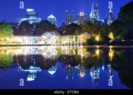 Mditown Atlanta, Georgia from Piedmont Park - Stock Photo