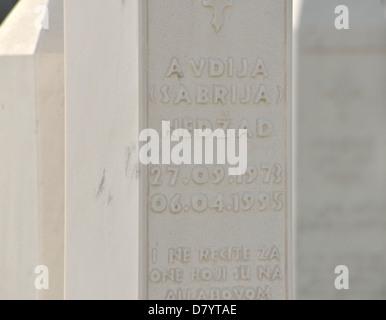 Civil war cemetery, Travnik, Bosnia and Herzegovina - Stock Photo