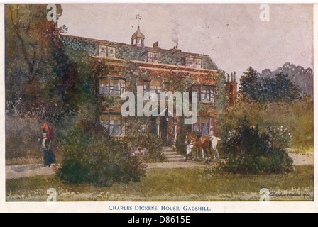 Home Of Charles Dickens At Gadshill  Kent - Stock Photo