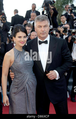 Cannes, France. 20th May 2013. Actor Alec Baldwin and wife Hilaria Thomas attend the premiere of 'Blood Ties' during - Stock Photo