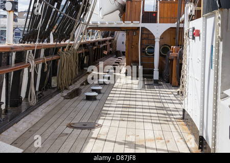 Decks on RSS Discovery Dundee  polar exploration ship Dundee waterfront - Stock Photo