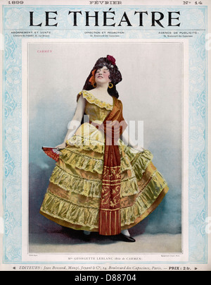 Georgette Leblanc 1899 - Stock Photo