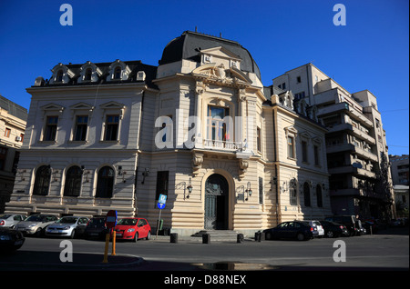 Central Library of the University of Bucharest, Romania - Stock Photo