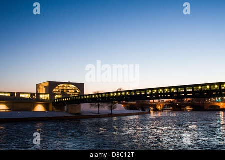 German Chancellery (Bundeskanzleramt) and Spree River. Berlin, Germany. - Stock Photo