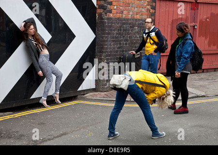 Photo Shoot, Brick Lane, London, England - Stock Photo