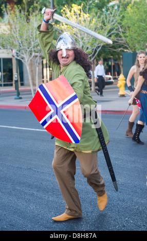 A Participant at the Helldorado Days Parade held in Las Vegas - Stock Photo