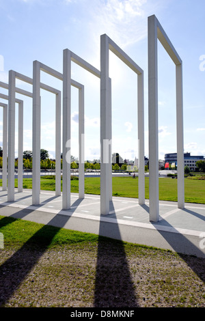 Alley of the gates of heaven, Bertha Klingberg Square, Schwerin, Germany - Stock Photo