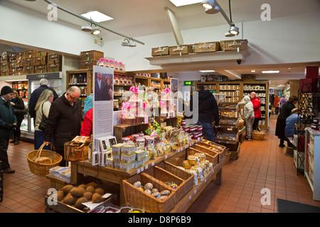 Chatsworth Farm Shop interior, Pilsley, Derbyshire - Stock Photo