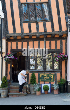Suffolk, Lavenham; The Crooked House - Stock Photo