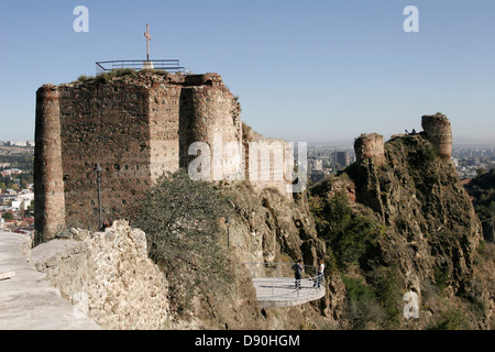 Narikala Fortress in Tbilisi, Georgia, Caucasus region - Stock Photo