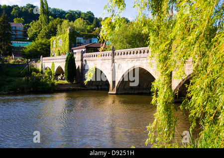 Toll bridge over the River Avon at Bathampton Somerset - Stock Photo