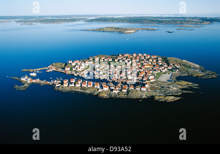 Aerial photography over Astol, Sweden. - Stock Photo