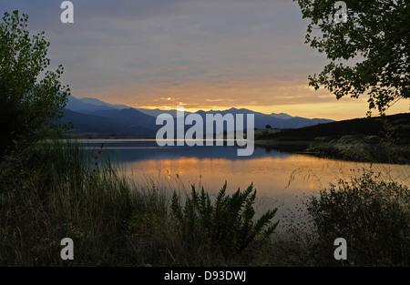 Padula artificial lake, Nebbio Region, Le Haut-Nebbio, Haute-Corse, Corsica, France - Stock Photo