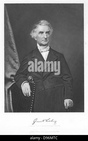 Justus von Liebig (1803-1873) German chemist. Engraving - Stock Photo