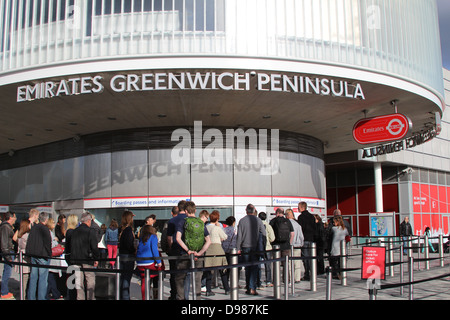 Emirates Royal Docks, Greenwich Peninsula - Stock Photo