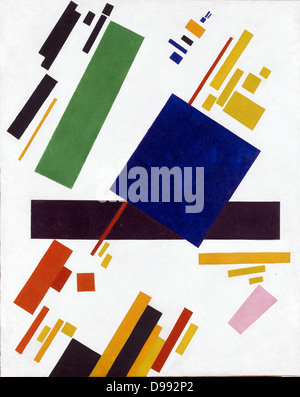 Suprematist Composition', 1912. Oil on canvas. Kazimir Malevich (1878–1935) Russian artist. Abstract - Stock Photo