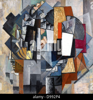 Bureau and Room', 1913. Oil on canvas Kazimir Malevich (1878–1935) Russian artist . Abstract - Stock Photo