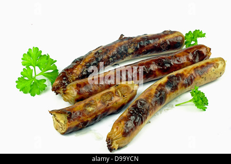 grilled sausage bratwurst - Stock Photo