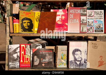 books about cuban history, Havana, Cuba, Caribbean - Stock Photo