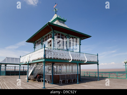 Clevedon Pier, Somerset, England - Stock Photo