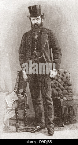 Nathan Mayer Rothschild, aged 32, 1st Baron Rothschild, Baron de Rothschild, 1840 –1915.  British banker. - Stock Photo