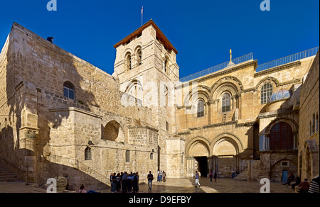 Church of the Holy Sepulchre in the Old City of Jerusalem, Israel - Stock Photo