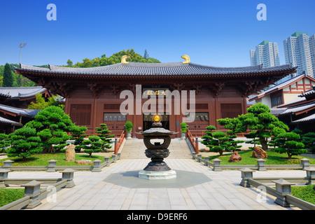 Chi Lin Nunnery in Diamond Hill District of Hong Kong, China. - Stock Photo