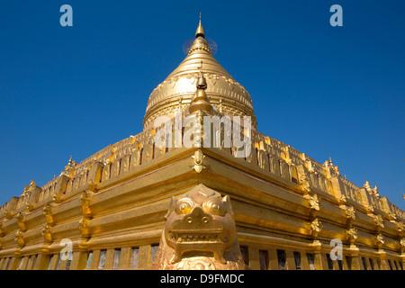Shwezigon Paya, Nyaung U, Bagan, Myanmar (Burma) - Stock Photo