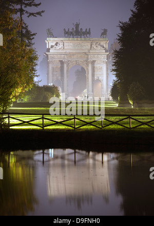 Arco della Pace, Milan, Lombardy, Italy - Stock Photo