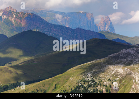 Dramatic mountains in the Dolomites, Italy - Stock Photo
