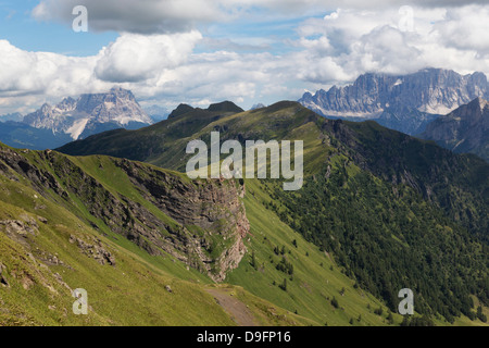 Rugged mountains in the Dolomites, Italy - Stock Photo