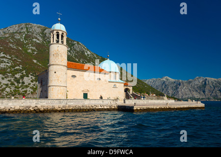 Our-Lady-of-the-Rock Island, Perast, Bay of Kotor, UNESCO World Heritage Site, Montenegro - Stock Photo