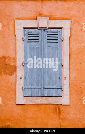 Typical French shutters in the old town of Le Mans, Sarthe, Pays de la Loire, France - Stock Photo