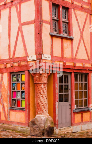 La Maison du Pilier Rouge in Le Mans, Sarthe, Pays de la Loire, France - Stock Photo