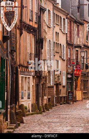 La Grande Rue in the old city of Le Mans, Sarthe, Pays de la Loire, France - Stock Photo