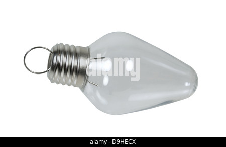 Christmas light bulb usually brightly light for the winter season - Path included - Stock Photo